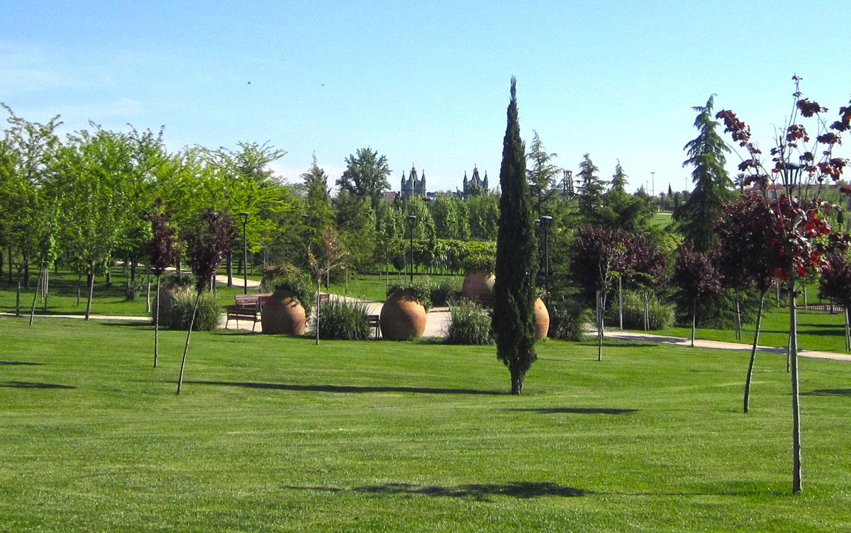 Plaza de las Tinajas en Parque Europa de Torrejón