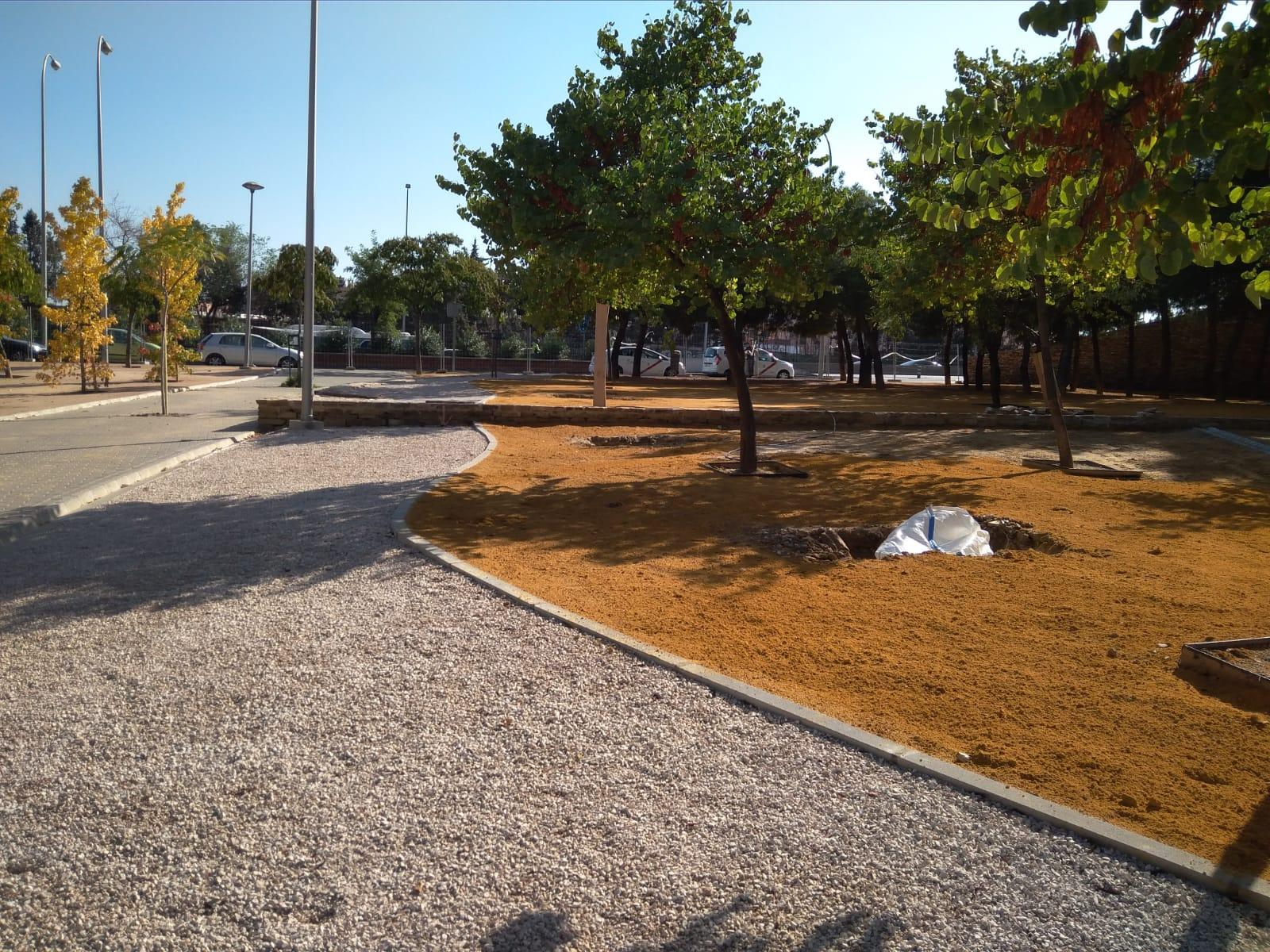 Detalles de remate en el parque
